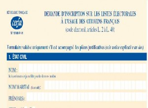 Inscription sur les listes électorales avant le 31/12/2011